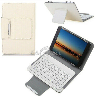 AU32.99 • Buy AU For 7  8  10  10.1  Tablets Universal Leather Case Keyboard Stand Cover White
