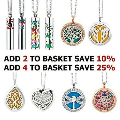 £7.57 • Buy Aromatherapy Essential Oil Diffuser Perfume Locket Pendant Necklace Stainless 12