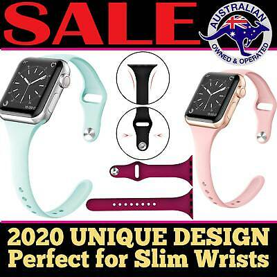 AU5.45 • Buy Apple Watch IWatch Series 5 4 3 2 1 Silicone Replacement Slim Strap Band 38 40