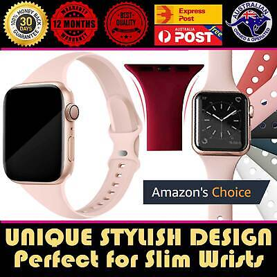 AU11.75 • Buy For Apple Watch IWatch Band Series 6 5 Strap Sport Silicone 38/40/42/44mm Women