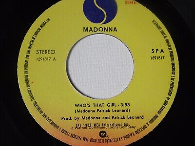 £2.50 • Buy Madonna - Who's That Girl 7  Vinyl Record Portuguese Import