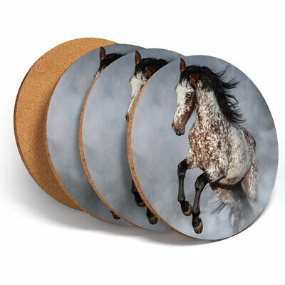 4 Set - Appaloosa Horse Equestrian Coasters - Kitchen Drinks Coaster Gift #2067 • 9.99£