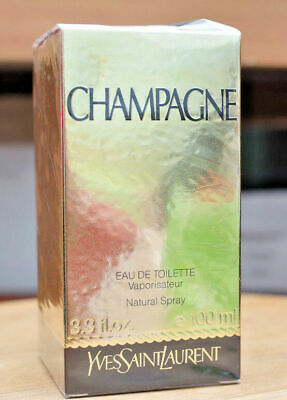AU429 • Buy Yves Saint Laurent CHAMPAGNE YSL 100ml EDT Spray Sealed Vintage Perfume Rare