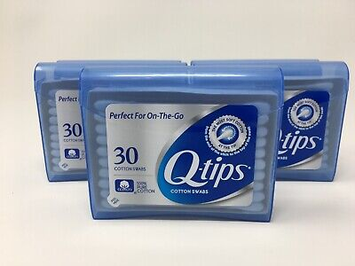 $ CDN15.15 • Buy 5 Travel Packs Q-Tips Cotton Swabs 30 Per Pack Plastic Container