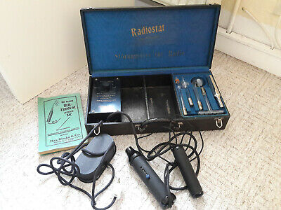 Big Working Vintage Violet Ray Machine RADIOSTAT 4 Wands High Frequency • 175£