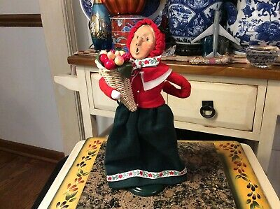 Byers Choice The Carolers Christmas 1994 Woman With Horn Of Plenty Basket 12.5  • 30.39£