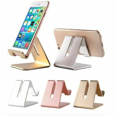 $4.95 • Buy Universal Cell Phone Tablet Desktop Stand Desk Holder Mount Cradle Aluminium Gol