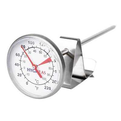 $17.86 • Buy Hygiplas Hot Milk Dial Thermometer 45mm Commercial Cafe Coffee Milk Thermometer