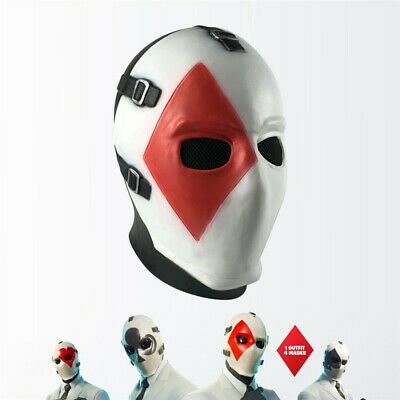 $ CDN30.65 • Buy Fortnite Poker Face Latex Mask Headgear Dress Up Game COS Props Halloween Prom
