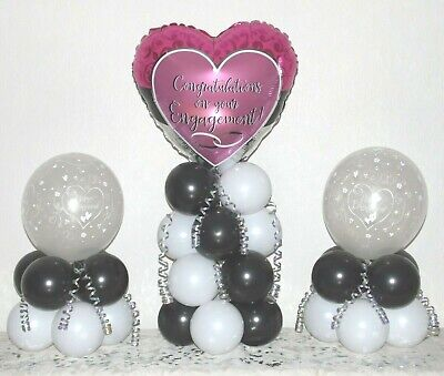 ENGAGEMENT - 3 Pack Party Set - Table Balloon Decoration Display Kit -No Helium • 15.99£