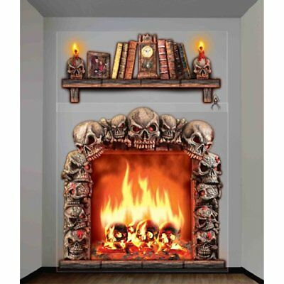 $ CDN15.42 • Buy Halloween Haunted House Props Indoor Outdoor Fireplac Wall Decoration Home Party
