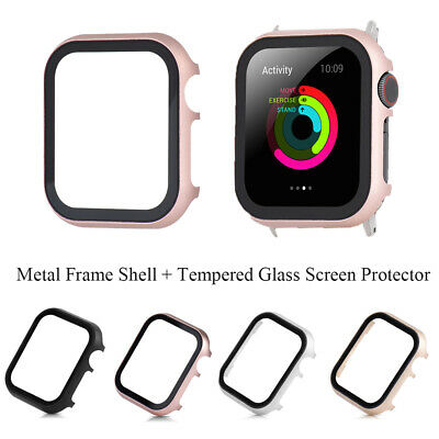 $ CDN4.21 • Buy Glass Screen Protector Protective Case For Apple Watch IWatch Series 4/3/2/1