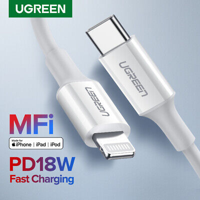 AU26.95 • Buy Ugreen MFi USB C To Lightning Certified Cable 18W PD Fast Charging IPhone 12 Pro