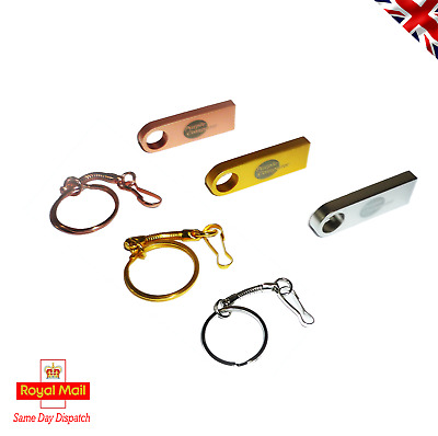 New 32GB Powder Coated Metal USB 2.0 Flash Drive Memory Stick And Key Ring Clip • 4.95£
