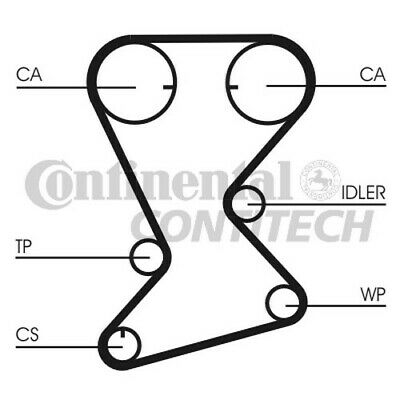 AU55.92 • Buy CT1109K1 CONTITECH TIMING BELT KIT Fits (Hyundai, Mitsubishi)