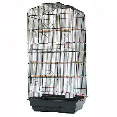 £28.89 • Buy Large Metal Bird Cage Canary Parakeet Budgie Cockatiel Lovebird Tall Cages Black
