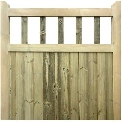 £157.95 • Buy Treated Handmade Wooden Cottage Style Flat Top Garden Gate Side Gate Picket Gate
