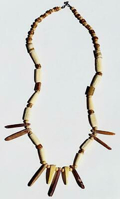 Vintage Polynesian West Indies Africa Vegetable Root Ceremonial Tribal Necklace • 22.26£
