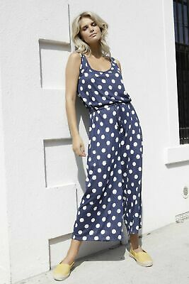 AU39 • Buy Betty Basics Maldives Jumpsuit In Ink With White Spot