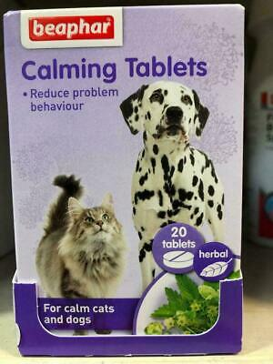 £4.94 • Buy Beaphar Herbal Calming Tablets For Dogs And Cats Calm Cat Dog