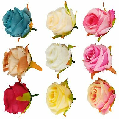 Rose Bud Heads With Wooden Stems - Flower Wall Loose Separate Artificial • 6.99£