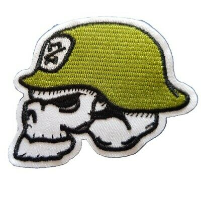 £2.59 • Buy Army Skull Zombie Trooper Military Skull Iron On Patch Sew On Transfer