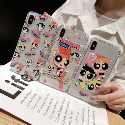 AU8.22 • Buy For IPhone 12 11 Pro Max XS XR 7 8+ Cute Cartoon Powerpuff Girls Shockproof Case