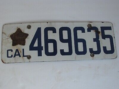 $ CDN166.67 • Buy 1919 CA California Porcelain License Plate With Original Star