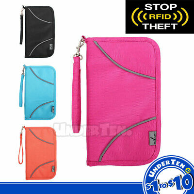 AU10 • Buy Waterproof Passport Holder Travel Document Wallet RFID Bag Family Case Organizer