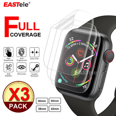 AU7.95 • Buy 3x For Apple Watch SE 6 5 4 3 2 1 44&40&42&38mm IWatch EASTele Screen Protector