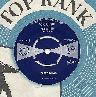 BOBBY RYDELL Kissin' Time*you'll Never Tame Me 1959 UK TOP RANK 45 • 9.99£