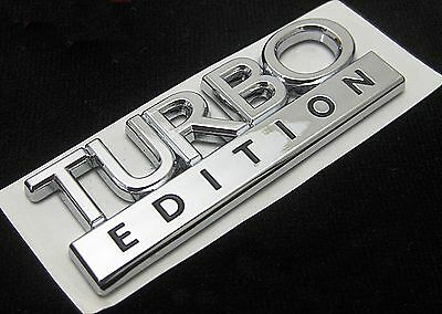 Brand New Turbo Edition Badge Chrome Decal Saab Vauxhall Ford Vw Audi Etc • 6£
