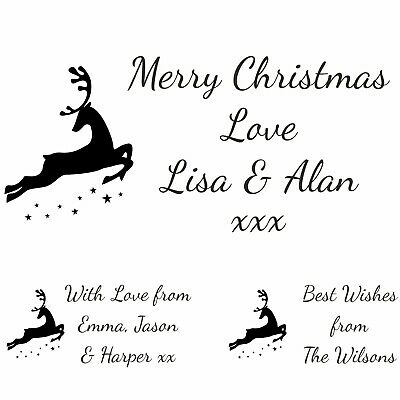 £8.95 • Buy Personalised Christmas Rubber Stamp Card Tag Custom Made Your Family Names