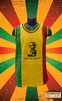 £8.99 • Buy Rasta Baby Red Gold Green Mesh Vest Basketball Top Roots & Culture