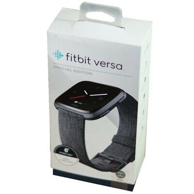 $ CDN126.67 • Buy Fitbit Versa FB505 Special Edition Smart Watch Charcoal Woven (with S/L Bands)