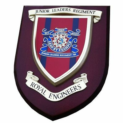 Royal Engineers Junior Leaders Wall Plaque Regimental Military Mess Shield • 22.99£
