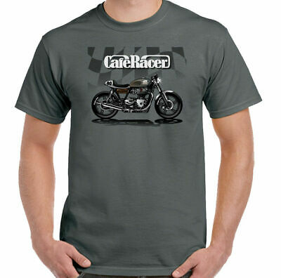Cafe Racer T-Shirt Mens Biker Motorbike Motorcycle Rider Indian Enthusiast Top • 9.49£