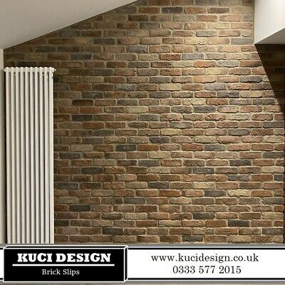 Camden Multi Brick Slips, Wall Cladding, Feature Wall, Brick Tiles SAMPLE • 0.99£