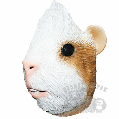 Latex Animal Mask Guinea Pig Head Cosplay Fancy Dress Novelty Masquerade Party • 16.99£
