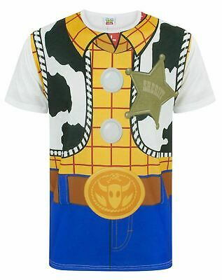 £16.99 • Buy Disney Toy Story Woody Cowboy Costume Outfit Men's Adults Novelty T-Shirt