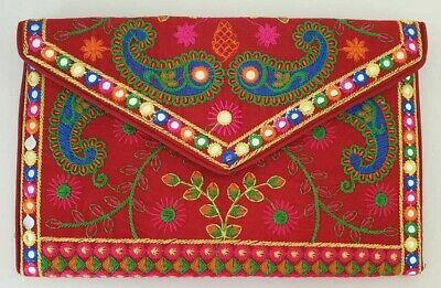 Hand Craft Red Novelty Embroidered IPad / Tablet Case Pouch Purse Unique Gift • 17.99£