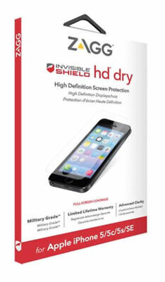 £5.95 • Buy ZAGG InvisibleSHIELD IPhone 5S 5 5C SE HD Dry Screen Protector Guard Clear