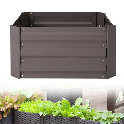 Outdoor Garden Planter Box Growing Vegetable Flower Herbs Raised Bed Metal Brown • 20.95£