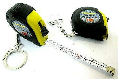 £4.45 • Buy Mini Tape Measure Keyring 1m X2 Set Of Two Measuring Tapes Small Imperial MS139