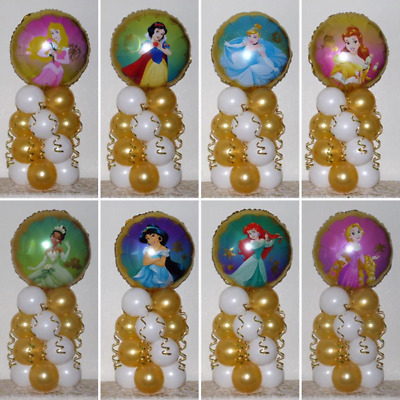 8 Pack  Disney Princess - Foil Balloon Display -table Centrepiece Decoration Kit • 39.99£