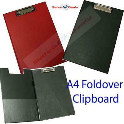 A4 FOLD OVER Clip Board Document Holder Writing Clipboard Office Pad Hard Filing • 3.45£