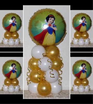 SNOW WHITE DISNEY PRINCESS - 5 Pack Party Set -Table Balloon Decoration Display  • 4.99£