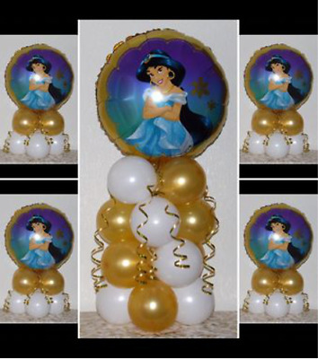 JASMINE  - DISNEY PRINCESS - 5 Pack Party Set -Table Balloon Decoration Display  • 4.99£