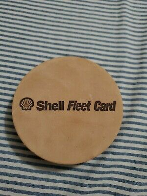 $7.99 • Buy 6 Shell Oil And Gas Advertising Fleet Card Coaster Leather