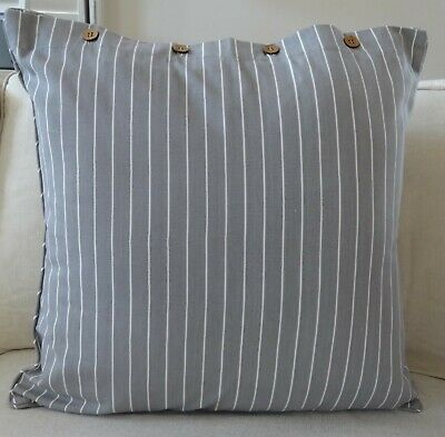 AU39.95 • Buy Grey & White Fine Stripe Cushion Cover - 60 X 60 Cm  Daybed, Floor Cushion Cover